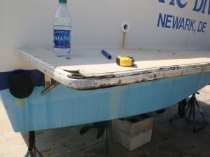 Long Bay Marine Survey boat and yacht damage platform