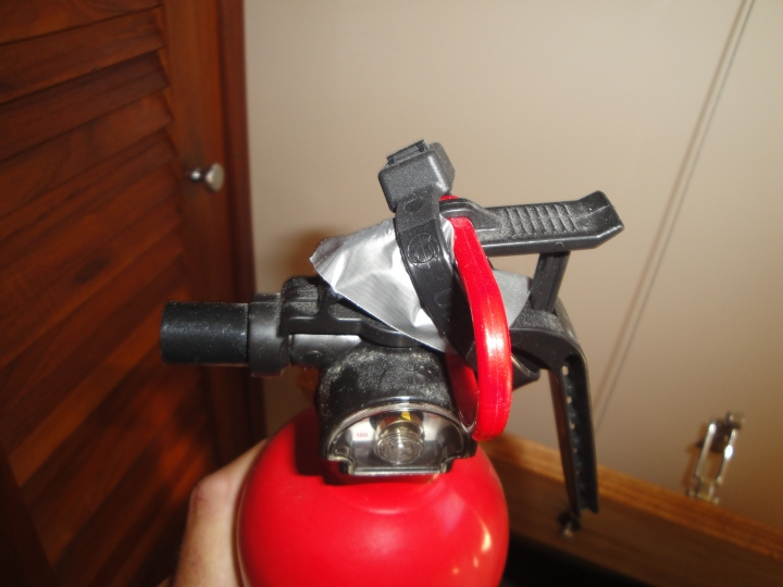 Modified fire extinguisher